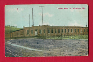 Hermann, MO, postcard view of PETERS SHOE Co, used May 1913