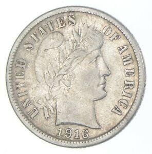 10c - ORIGINAL AU - 1916-S - Barber Silver Dime - Almost Uncirculated *075