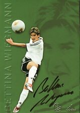 Autogramm Bettina Wiegmann Frauen Fußball, DFB Karte Weltmeisterin Olympia 3.