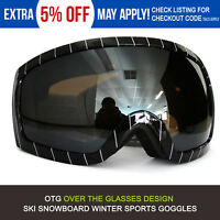 Men Women Ski Snow Goggles AntiFog Snowboard Motorcycle Skiiing OTG Design Glass