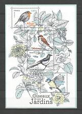 FRANCE 2018..Miniature Sheet  MNH ** Birds of us Gardens..Oiseaux de nos Jardins