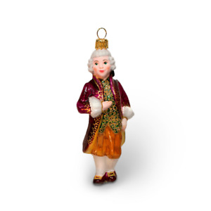 Marquis in cherry costume hand blown glass figurine - Christmas tree ornament