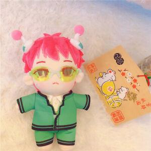 20cm Anime The Disastrous Life of Saiki K. Saiki Kusuo Plush Doll Toy + Clothes