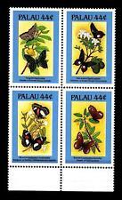 PALAU - 1987 - Flora e fauna. Farfalle e fiori (I) - (G)