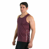 Higher State Mens Running Singlet Red Gym Breathable Lightweight