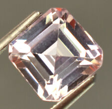 Natural Certified Brazil Pink Morganite 5.25   Ct EMERALD  Cut Loose Gem Stone