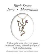 Angelys June Birthstone Moonstone Fairy Pendant Necklace Birthday Xmas Gift Box