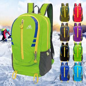 Durable 30L Unisex Bag Outdoor Sports Travel Backpack Schoolbag Daypack Rucksack