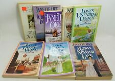 Lot of 8 Janette Oke Books Love Donigan Spanish Lace Harmony Historical Fic A403