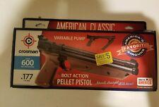 New Crosman Bolt Action .177 Caliber Variable-Pump Pellet Air Pistol Black P1377