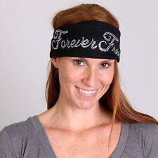 Bling FOREVER FREE Rhinestone Head Wrap Headband Hair Wrap Biker Motorcycle