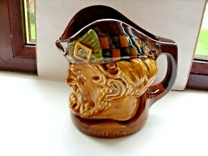 large McCallum scotch whisky headed water jug made by wade england in VGC