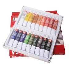 18 Pcs Couleurs 12ml Tube De Peinture Dessin Artistes aquarelle Set