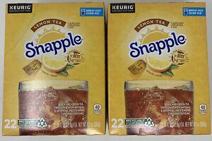 Snapple LEMON TEA K-Cups 44 ct Brew Hot Over Ice Best Before 11/28/20