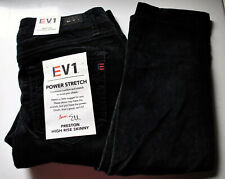 EV1 Preston High Rise Skinny Fit Power Stretch Velvet Pants Size 6