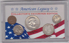 5  NICE VINTAGE U.S. COINS,ALL WITH FULL DATES,  (3 SILVER)  (#AL-1)