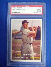 1957 Topps Joe DeMaestri #44 PSA 9 Mint OC POP 1 Kansas City A's Athletics