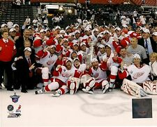 2008 Detroit Red Wings Stanley Cup Champions Celebration on Ice 8 x 10 Photo