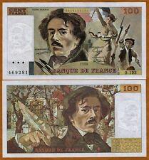 France, 100 francs, 1989, P-154 (154d)  pre-Euro, UNC