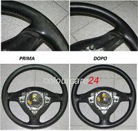 Kit Rinnova Colore Volante Pelle Audi NERO Ritocco Interni A 3 5 Q Cabrio TT