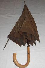 Authentic LOUIS VUITTON Umbrella Parasol Monogram Brown France Vintage - Rare