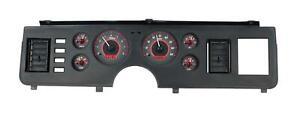 Dakota Digital 79-86 Ford Mustang Analog Gauges Carbon Fiber Red VHX-79F-MUS-C-R
