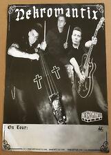 NEKROMANTIX Rare 2007 PROMO POSTER for Life CD USA 13x19 Never Displayed