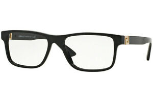 Authentic VERSACE VE3211 - GB1 Eyeglasses Black *NEW*  55mm