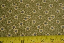 By 1/2 Yd, Green & Tan on Green Quilting, Thimbleberries/Berry Patch, N817