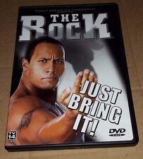 WWF The Rock Just Bring It! (DVD, 2002) WWE NWO WCW ECW TNA