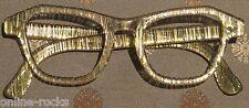 Vintage Woman's plastic frame Gold lines Clear Lucite 44x20 5 1/2 eyeglasses