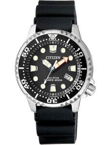 Citizen Promaster Sea Diver Watch Women's Watch EP6050-17E Analogue Rubber Black
