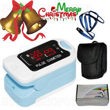 CMS50M Fingertip Pulse Oximeter Blood Oxygen Spo2/PR Monitor with Carry Case LED