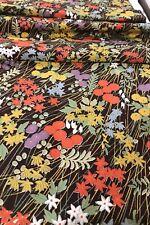 @@ 160 cm x 35 cm Japanese kimono silk fabric/ smooth crepe/ chocolate G20