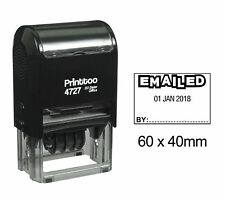Printtoo Self Ink Emailed Dater Stamp With Emailed By Text Date Rubber-PR4727-44