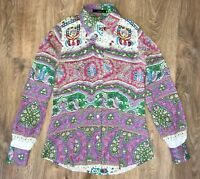 ETRO ladies womens multicolor floral pattern shirt blouse size 38