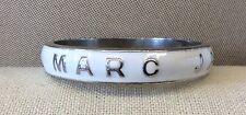 Fab!!! MARC BY MARC JACOBS White Enamel Thick, Heavy Silvertone Bangle Bracelet