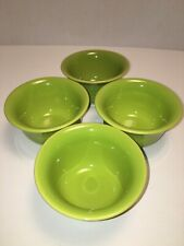 HLC Fiestaware Lemongrass Bouillon Bowls(4)Fiesta Light Green Boullion 0450