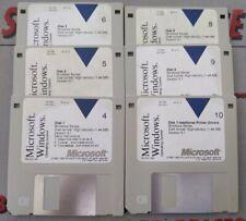 "Microsoft Windows Version 3.1 on 3.5"" Disk 4 MISSING 6 disk diskette"