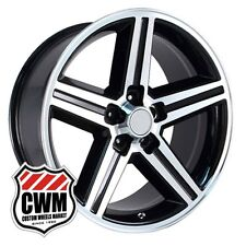"20 inch 20x8"" Iroc Z Camaro Black Machined Replica Wheels Rims 5x4.75"" 0 offset"