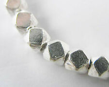 Karen Hill Tribe Silver 10 Faceted Beads 4.3mm.