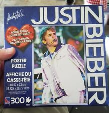 Justin Bieber Poster Puzzle 300 Pieces With Bonus Photo Card Belieber NEW HTF