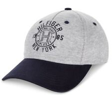 Tommy Hilfiger Jersey Logo Baseball Ball Cap Hat Gray Grey Heather Adjustable