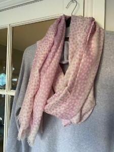 Morgan & Oates Raindrop Ombre pink Scarf/Wrap  Merino/Cashmere