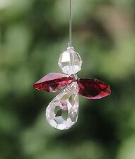 Red Guardian Angel Sun Catcher/Rainbow Maker Swarovski Crystal Element + Gift Ba