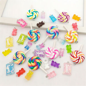 32Pcs Sweet Candy Resin Charms for DIY Bracelet Necklace Earring Jewelry Making