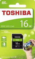 Toshiba® 16GB SDHC™ UHS-I High Speed N203 Memory Card Class 10 100MB/s