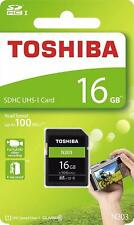 Toshiba® 16GB SDHC™ UHS-I High Speed N203 Memory Card Class 10 100MB/s