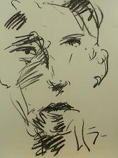 JOSE TRUJILLO EXPRESSIONIST ORIGINAL CHARCOAL DRAWING Portrait  MODERNISM ART