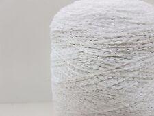 angel 73/% Baumwolle 24€//Kg Bändchengarn creme Wolle Stricken Lineapiu LL 210m